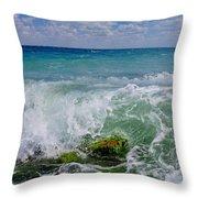 The Sea Breathes Throw Pillow