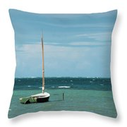 The Sea Calls My Name Throw Pillow by Break The Silhouette