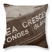 The Sea Crescent Throw Pillow