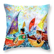The Sea Cruise Of Tivoli Gardens Throw Pillow