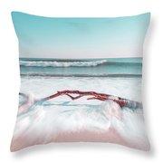 The Sea Green Ocean Fine Art Print Throw Pillow