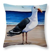 The Sea Gull Throw Pillow