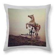 The Sea Horse Throw Pillow