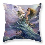 The Storm Queen Throw Pillow