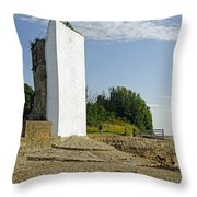 The Seamark On St Helens Beach Throw Pillow