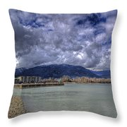 The Seasons On Lake Pend Oreille Throw Pillow
