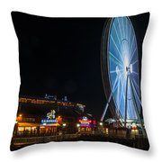 The Seattle Great Wheel 2 Throw Pillow