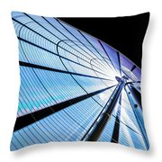 The Seattle Great Wheel Throw Pillow