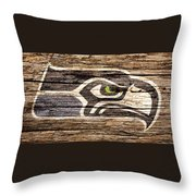 The Seattle Seahawks 2f Throw Pillow
