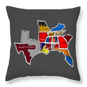 The Sec South Eastern Conference Teams Throw Pillow