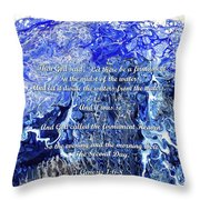 The Second Day With Scripture Throw Pillow
