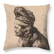 The Second Oriental Head Throw Pillow