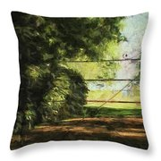 The Secret Gate Throw Pillow
