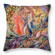 The Secret Of Blue Birds Throw Pillow