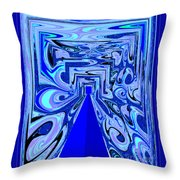 The Secret Room Abstract Throw Pillow