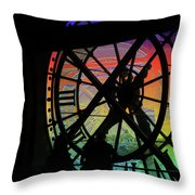The Secret Workings Of Time Throw Pillow