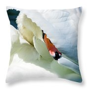 The Seductive Swan Throw Pillow