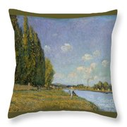 The Seine At Billancourt Throw Pillow