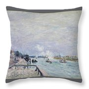 The Seine At Grenelle  Throw Pillow