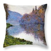 The Seine At Jenfosse Throw Pillow