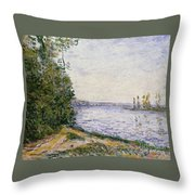 The Seine Near Throw Pillow