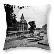 The Seine Paris1 Throw Pillow