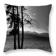 The Selkirk Mountains On Priest Lake Throw Pillow