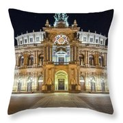 The Semper-opera Throw Pillow