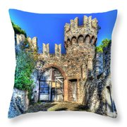 The Senator Castle - Il Castello Del Senatore Throw Pillow
