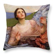 The Sense Of Sight By Annie Swynnerton  Throw Pillow