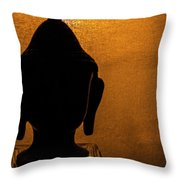 The Serene Buddha  Throw Pillow