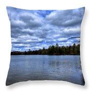 The Serenity Of Limekiln Lake Throw Pillow