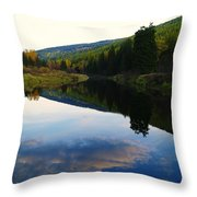The Serenity Of The Moyie  Throw Pillow