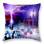 The Serenity Of Wisdom... Throw Pillow
