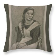 The Servant Girl Painting Throw Pillow
