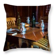 The Set Table Throw Pillow by Trevor Wintle