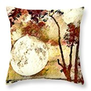 The Setting Moon Throw Pillow