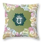 The Seven Chakras Throw Pillow