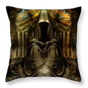 The Seven Monks Of  Tarthyohr  Throw Pillow