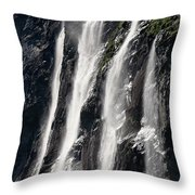 The Seven Sister Waterfall Throw Pillow