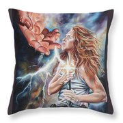The Seven Spirits Series - The Spirit Of Might Throw Pillow