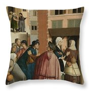 The Seven Works Of Mercy Throw Pillow