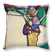The Seventh Hole I Did It My Way Throw Pillow