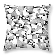 The Seventh Wave Throw Pillow