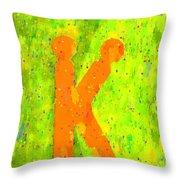 The Sexy K  - Orange -  - Pa Throw Pillow