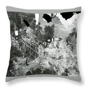 The Sgt. York Set With Director Howard Hawks And Gary Cooper 1941-2016 Throw Pillow