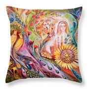 The Shabbat Queen Throw Pillow