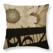 The Shadow Flowers Throw Pillow