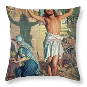 The Shadow Of Death Throw Pillow by William Holman Hunt