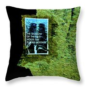 The Shadow Of The Past Holds The Future Hostage Throw Pillow